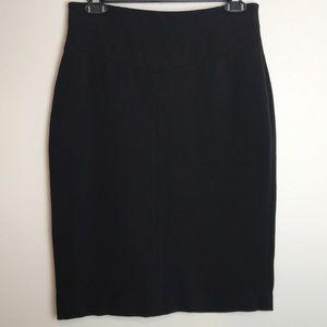 Ann Taylor Black Ponte Pencil Skirt Size 2